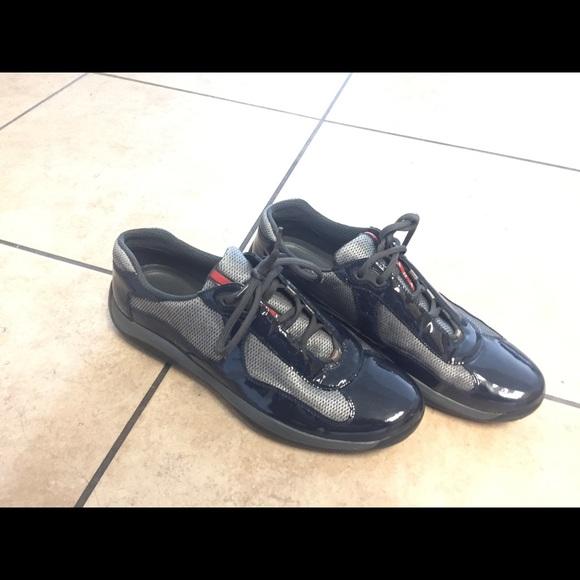 0 Authentic Navy Blue Prada Men Shoe